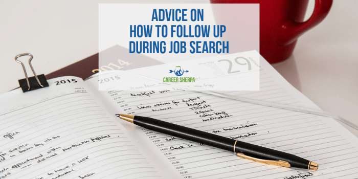 How To Follow Up During Job Search