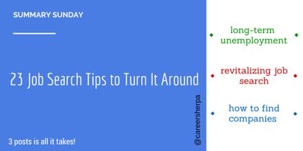 23 job search tips to turn it around #summarysunday