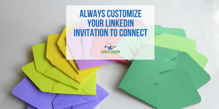 customize invitation to connect
