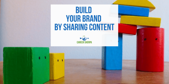 build brand by Sharing Content