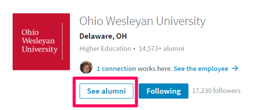 new LinkedIn find alumni