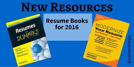 new resources resume books for 2016 career sherpa