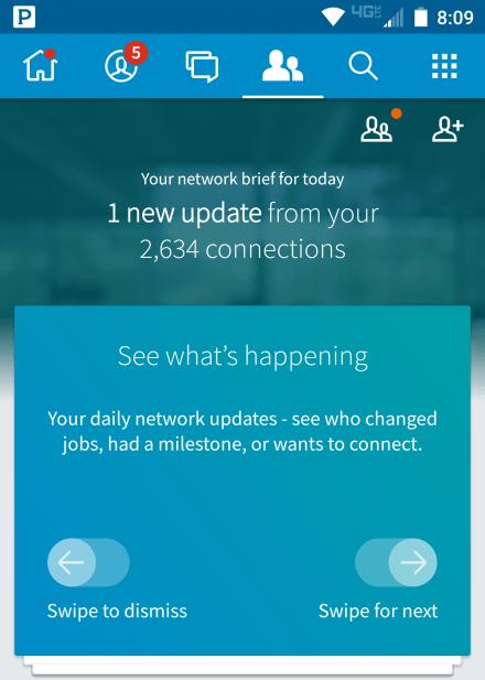 linkedin updates app career sherpa