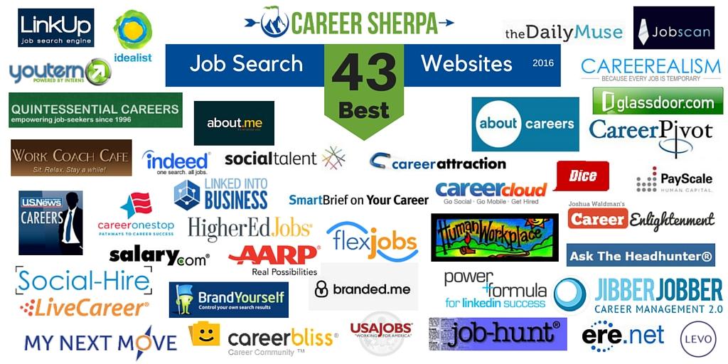 43 best job search websites 2016 career sherpa