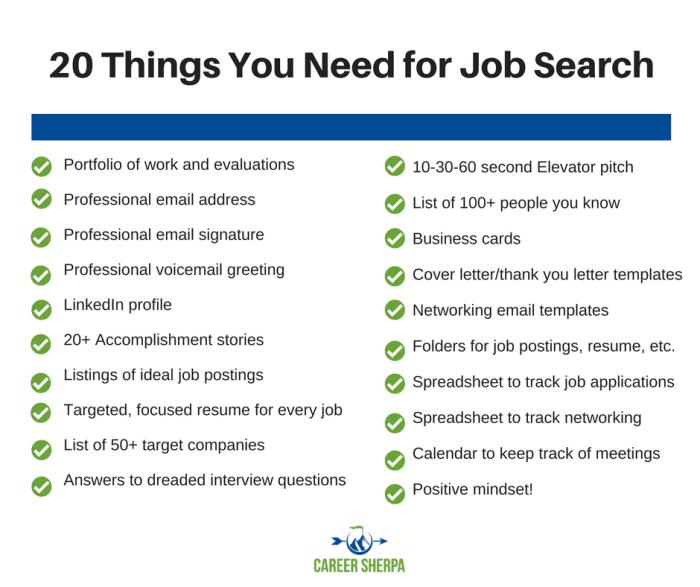 20 job search needs
