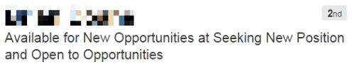 Bad LinkedIn headline