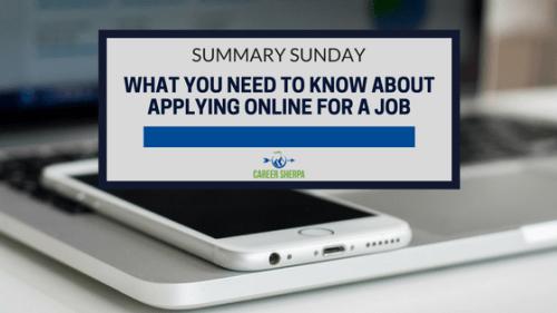 applying online for a job