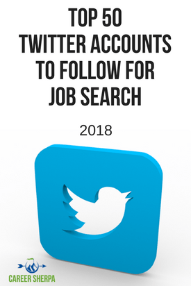 50 Twitter accounts to follow for job search