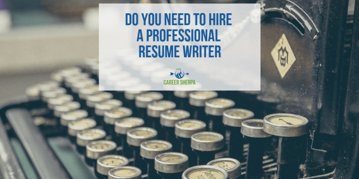 Do You Need To Hire A Professional Resume Writer