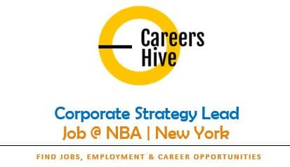 Corporate Strategy Lead   NBA Jobs in New York