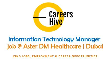 IT Manager Jobs in Dubai   Medcare Management Office