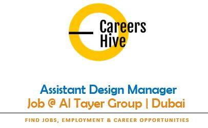 Assistant Design Manager Jobs in Dubai | Al Tayer Group