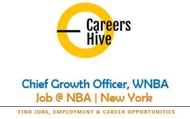 Chief Growth Officer, WNBA | NBA Jobs in New York