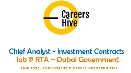 Chief Analyst - Investment Contracts   Dubai Government Jobs 2021