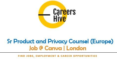 Sr Product and Privacy Counsel (Europe) Jobs in London | Canva