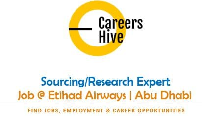 Sourcing/Research Expert job at Etihad | Airline Jobs in UAE 2021