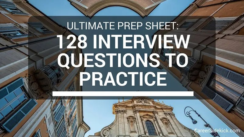 128 Free Practice Interview Questions Sample Behavioral