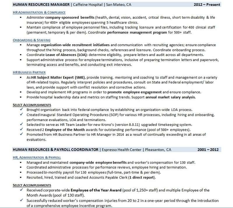 sample list of work accomplishments
