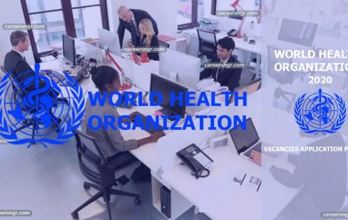 World Health Organisation Recruitment