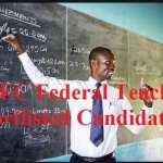 UBEC Federal Teachers Shortlisted Candidates