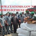 www.customs.gov.ng shortlist