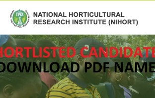 NIHORT shortlisted candidates