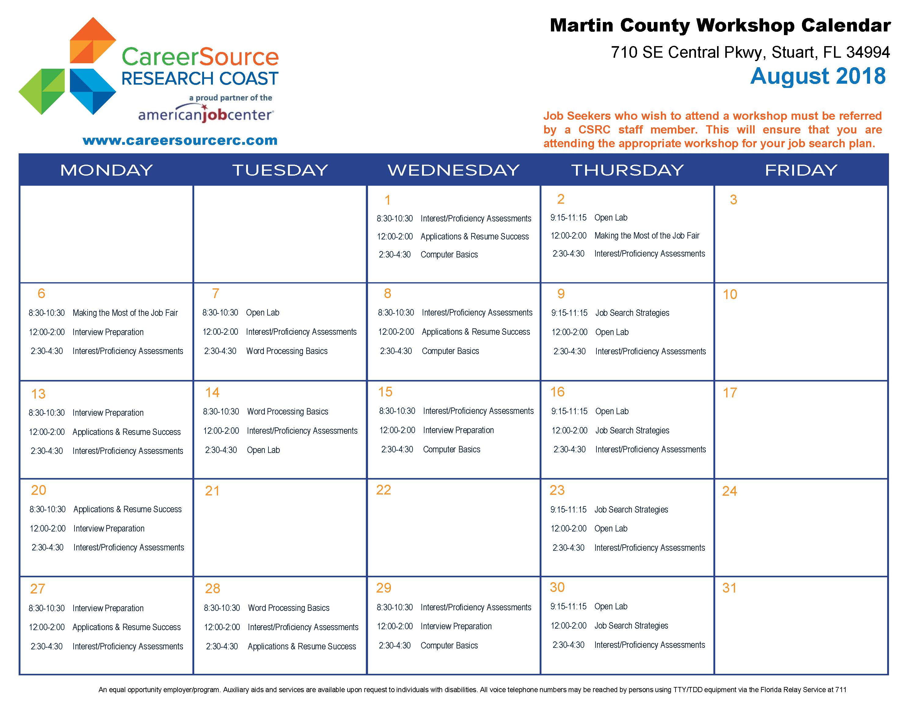Employment Success Workshops - CareerSource Research Coast