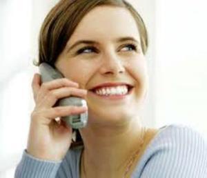 Girl on telephone