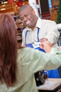Sales Clerk assisting customer