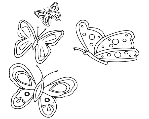 free printable butterfly coloring pages # 66