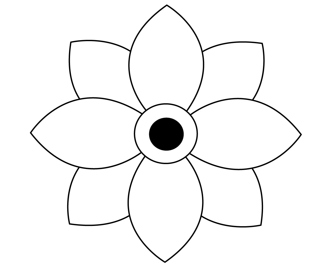 Best Simple Flower Coloring Pages To Print