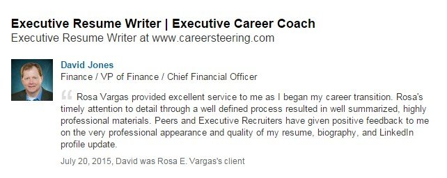 Executive Resume Writing Service Reviews