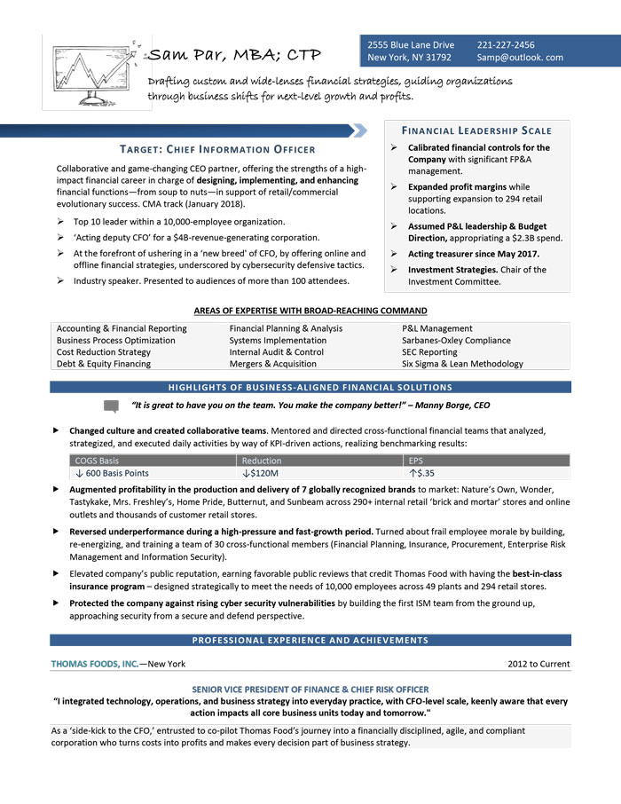 CSuite  Senior Executive Resume Samplesexamples CEO