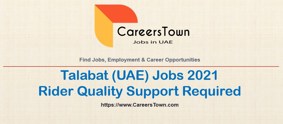 Rider Quality Support Jobs in Sharjah | Talabat Careers