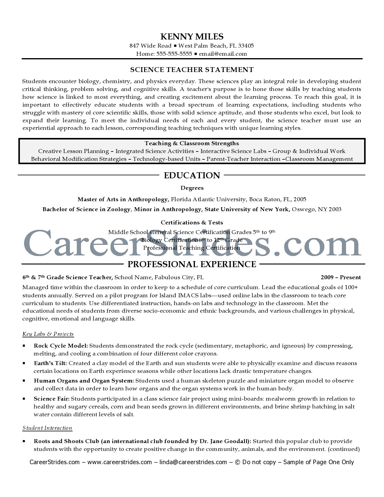 Resume Examples Teacher Teacher Resumes With Quotes Quotesgram