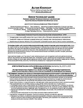 Executive Resume & Professional Resume Samples