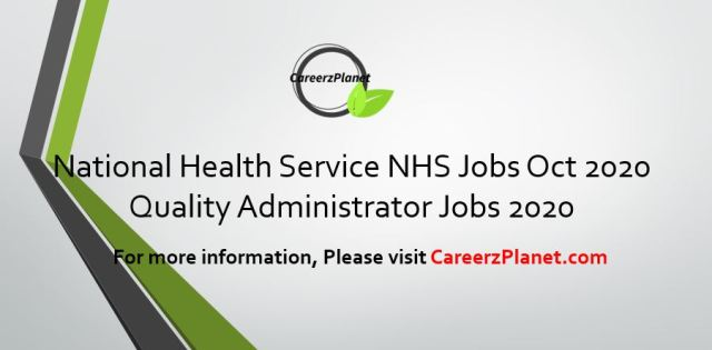 Quality Administrator UK Careers 24 Oct 2020