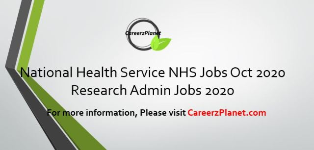 Administrator Jobs @ NHS National Health Service 24 Oct 2020