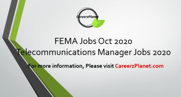 Federal Emergency Management Agency 23 Oct 2020 Jobs