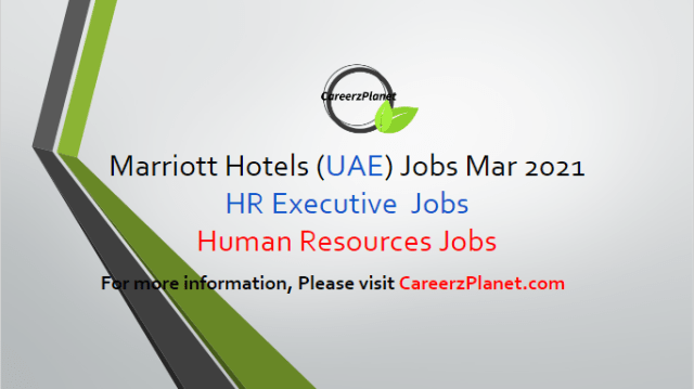 Human Resources Jobs in Dubai UAE 29 Mar 2021 1- Human Resources HR Executive - Aloft Al Mina Job Category:Human Resources Full Time Aloft Al Mina Dubai, Sheikh Rashid Road & 37th Street, Dubai, United Arab Emirates  Job Description: A- Assist in monitoring/tracking employee relations issues including resolution and follow-up. Assist and support management and the leadership team with handling and resolving Human Resources issues. B- Monitor all hiring and recruitment processes for compliance with all local, state, and federal laws and company policies and standards. Inform Human Resources management of issues related to employee relations. C- Assist in logistics, administration, and scheduling of annual employee surveys. Answer phone calls and record messages. D- Assist management in hiring, training, scheduling, evaluating, counseling, disciplining, and motivating and coaching employees. E- Follow all company and safety and security policies and procedures; report accidents, injuries, and unsafe work conditions to manager. Maintain confidentiality of proprietary information.  For more details, please scroll down & see the details.  Last Date to Apply: Apr-10-2021  Marriott Hotel Careers - United Arab Emirates Apply at CareerzPlanet.com