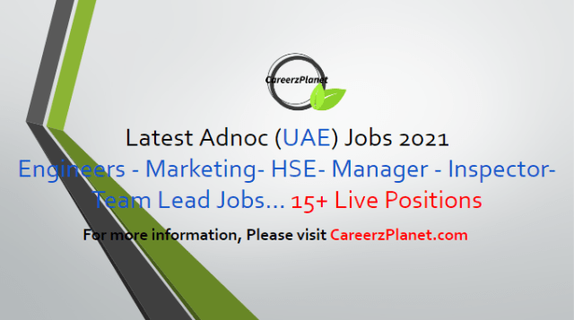 Careers at Adnoc 05 May 2021 1- Engineer, Drilling Fluids Full Time Dubai, UAE  2- Lead Platform Architect (AIQ) Full Time Dubai, UAE  3- Senior Software Engineer (AIQ) Full  Time Abu Dhabi, UAE  4- Senior Product Manager (AIQ) Full Time Abu Dhabi, UAE  5- Lead Software Engineer (AIQ) Full Time Abu Dhabi, UAE  6- Mentor (Geophysics) Full Time Abu Dhabi, UAE  7- Senior Auditor, IT Full Time Abu Dhabi, UAE  8- Manager, Domestic Relations - UAE National Full Time Abu Dhabi, UAE  9- UX & UI Expert- (AIQ) Full Time Abu Dhabi, UAE  10- Senior Financial Controller- AIQ Full Time Abu Dhabi, UAE  11- Manager, Transformation Department Full Time Abu Dhabi, UAE  12- Senior Data Scientist- AIQ Full Time Abu Dhabi, UAE  13- Technical Project Manager- AIQ Full Time Abu Dhabi, UAE  14- Lead, Data Scientist- AIQ Full Time Abu Dhabi, UAE  15- Sales & Business Development Manager- AIQ Full Time Abu Dhabi, UAE  And many more jobs, For more details, please scroll down & see the details.  Last Date to Apply: May-31-2021  Adnoc Careers - United Arab Emirates Apply at CareerzPlanet.com
