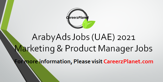 Marketing & Product Manager  Jobs in UAE 12 Apr 2021