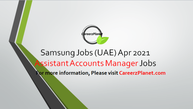 Sales Jobs in Dubai UAE 01 Apr 2021 1-  Assistant Key Account Manager Full Time Butterfly Building, Tower A, Dubai Media City, Dubai, UAE  Job Responsibilities: A- Plan and execute sales with Key accounts (Retailers). B- Steer efforts to achieve weekly, monthly, quarterly and annual market share & sales targets. C- Facilitate decision making by senior management on sales & service strategies to meet demands of accounts by providing market inputs and recommendations associated with channel experience and end customer feedback. D- Build strong long term relationships with key accounts, at all levels (General Managers, CEO's, buyers, product managers and sales managers) to maintain sales momentum and growth. E- Identify requirements and work towards finding a solution to remove any barriers to sales. F- Conducting market trend analysis and working closely with the Direct Retailer to develop plans to overcome potential issue.  Job Requirements: A- Typically requires minimum 3 years' of related experience. B- Bachelor's Degree. C- Must have UAE Sales Experience. D- Account Management Experience is Required.  For more details, please scroll down & see the details.  Last Date to Apply: Apr-10-2021  Samsung Careers - United Arab Emirates Apply at CareerzPlanet.com
