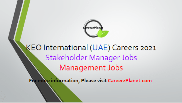 Construction Company Jobs in Abu Dhabi UAE 02 Apr 2021 1- Stakeholder Manager Full Time Abu Dhabi, UAE  Job Responsibilities: a- Providing technical support to secure approvals, agreementsand allundertakings withgovernmental departments, stakeholders and third parties. b- Monitoring and implementation of requirements to obtain necessary NOC's and approvals. c- Liaisingwith department managers for permitstrategyrequiredfor new projects and proposals. d- Coordinatingwith various consultant disciplines for development of construction documentsandapplications for building and sign permits. e- Reviewingof ordinances, utilitiesservice research, outside agency regulations and site visits toestablish comprehensive development guidelines.  Job Requirements: a- You will bring a minimum of10years'site design and permitting experiencefrom a range of multidisciplinary projects partneredwith aBachelor'sdegree inCivil Engineering or arelated discipline. b- A strong understanding of the design, engineering and construction process. c- Hold strong relationships with Abu Dhabi's Local Authorities. d- Proven track record inworking withlocal authorities and agencies.  For more details, please scroll down & see the details.  Last Date to Apply: Apr-15-2021  KEO International Careers - United Arab Emirates Apply at CareerzPlanet.com