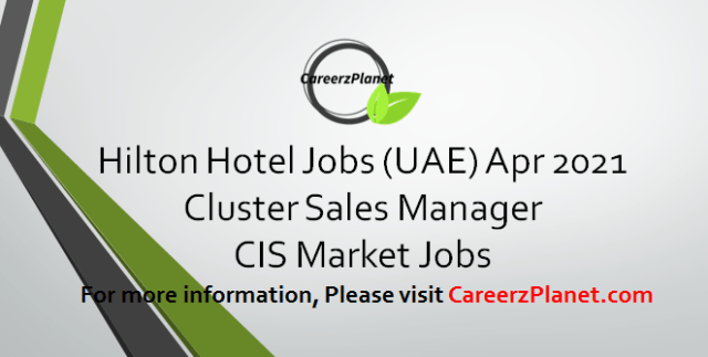 Cluster Sales Manager Jobs 01 Apr 2021