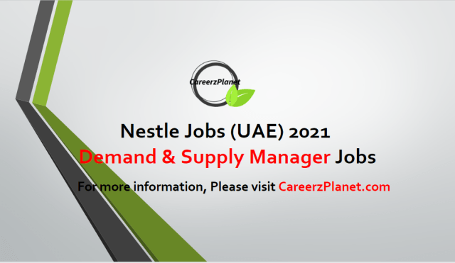 Demand & Supply Planning Manager Jobs in Dubai 26 Apr 2021