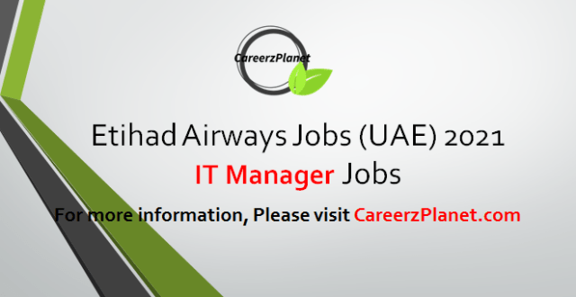 IT Manager Jobs 16 Apr 2021