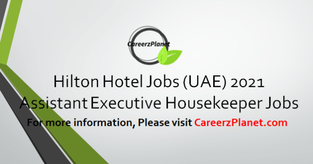 Assistant Executive Housekeeper Jobs 02 Apr 2021