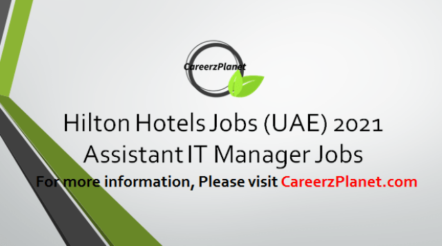Assistant IT Manager Jobs 07 Apr 2021