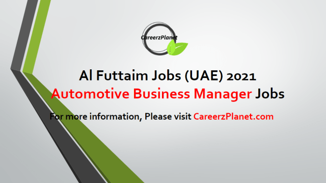 Group Used Cars Business Development Manager | Automotive Jobs in UAE 20 Apr 2021